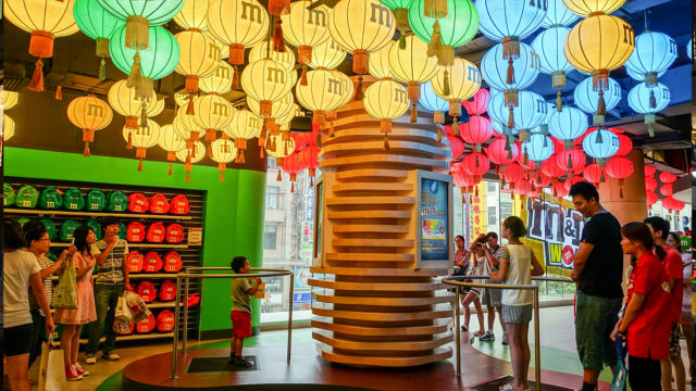 M&M's World Shanghai Mood Analyzer